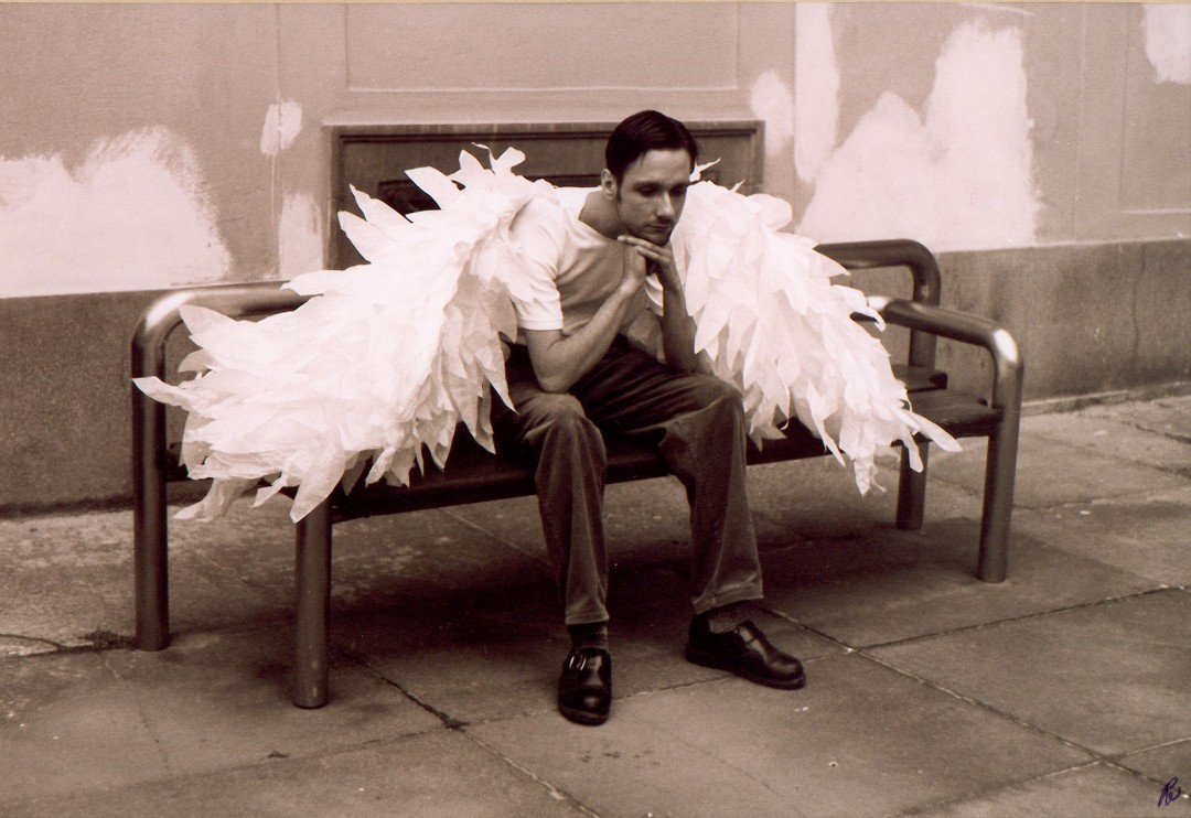 Robin Polfuss, </span><span><em>Angelo sitting, 2001</em>, </span><span>8x10