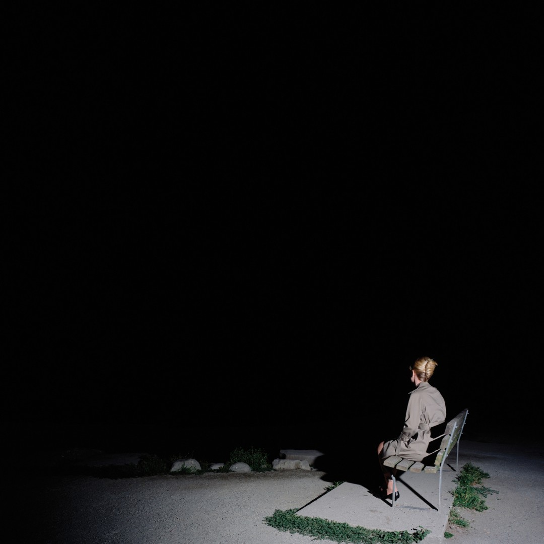 Karin Bubas, Woman on Bench, 2006, C-print, 60 x 60 inches