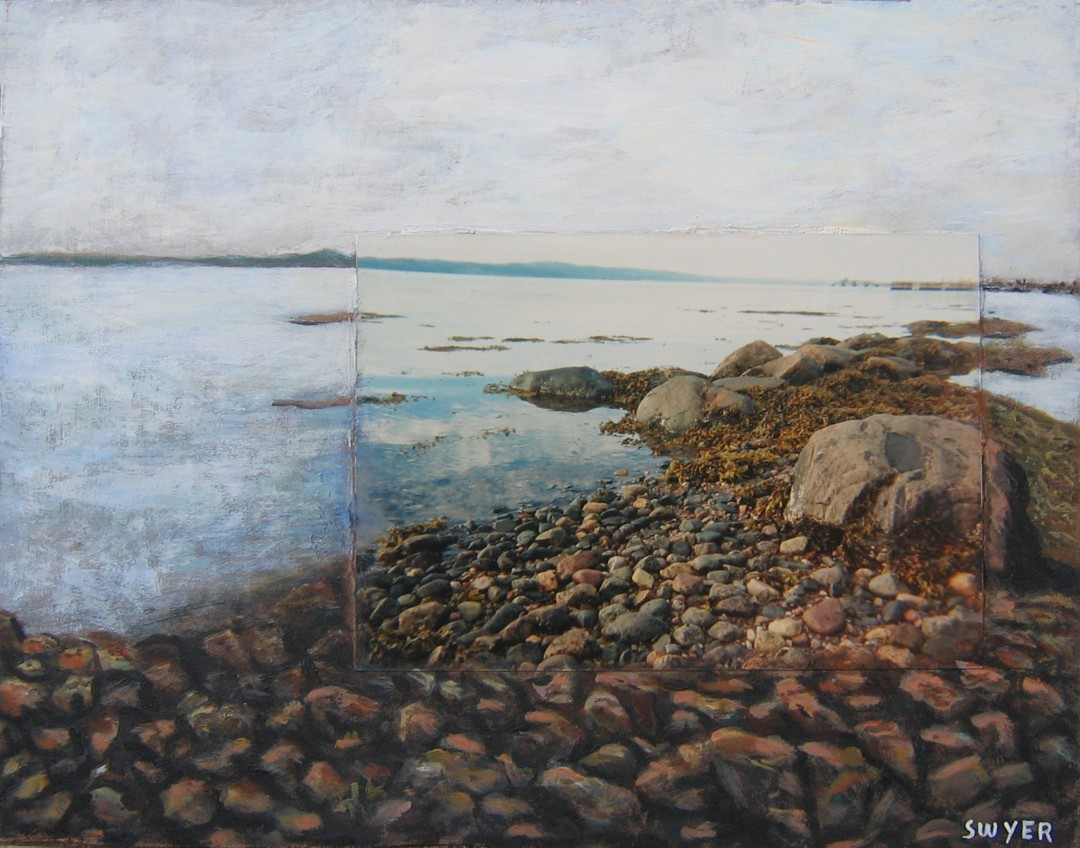 Aubrey Swyer, Low Tide, 2007, Photo Painting Acrylic, 8 inches by 10 inches