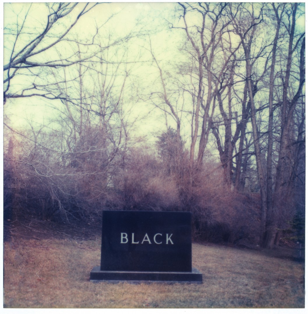 George Whiteside, </span><span><em>Black, 1980</em>, </span><span>polaroid SX70