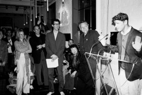 Photo: Ken Chou, </span><span><em>Ari Versluis speaks at CONTACT 2006 Launch</em>