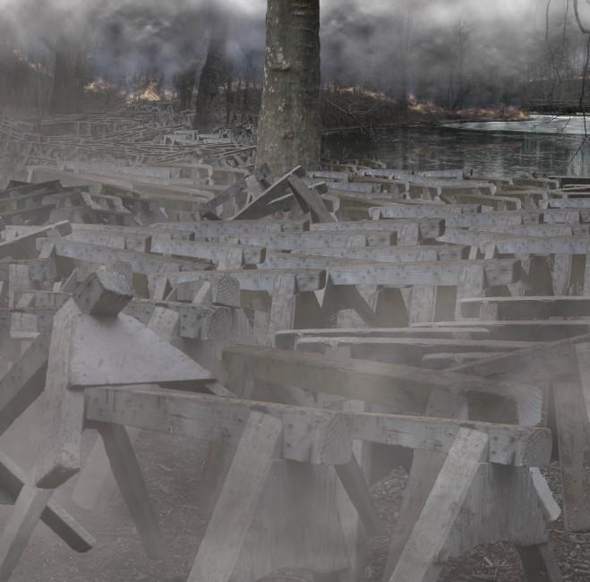 Karen Ostrom, </span><span><em>Smoking Gun, 2007 (detail)</em>
