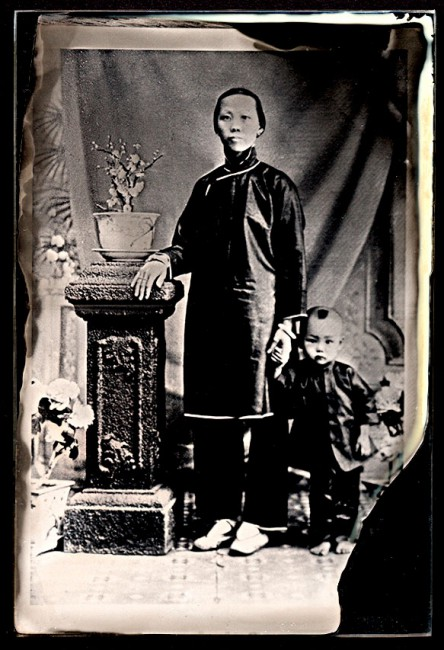 Melodie Ng, </span><span><em>My great-grandmother &amp;amp; great-uncle, circa 1915</em>, </span><span>Ambrotype 6