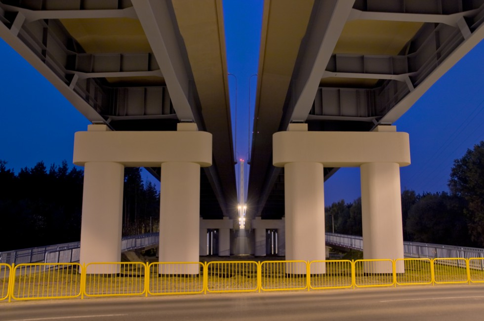 Nick Rudnicki, </span><span><em>Plock New Bridge, 2007</em>, </span><span>30 x 40