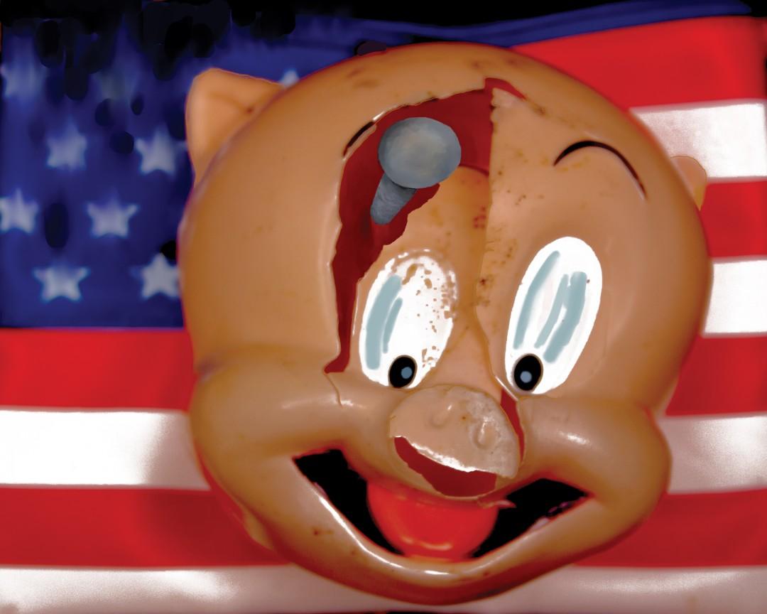 cHerbert, Nailed the Pig, Archival Inkjet Print, 16x20