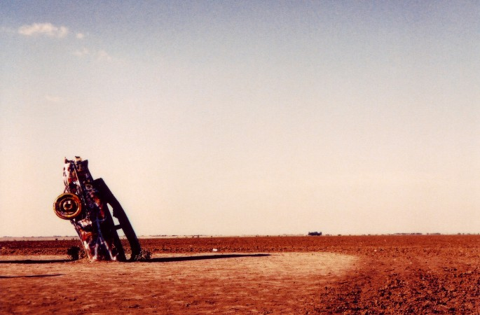 Mavreen David, </span><span><em>Cadillac Ranch, 2006</em>, </span><span>Color Photo, 30x42 inch