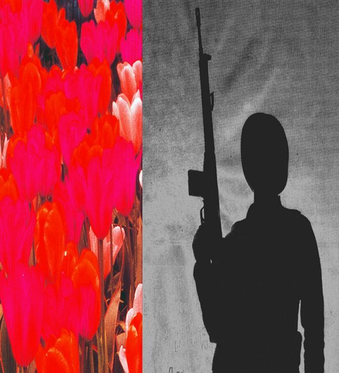 Parvaneh Radmard, </span><span><em>Heroes, 2007</em>, </span><span>Archival inkjet on paper, 9' x 6'