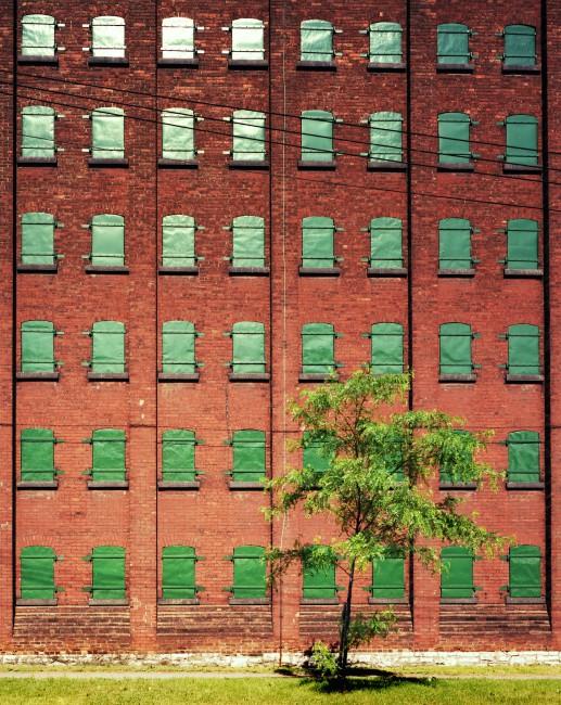 David Kaufman, </span><span><em>Gooderham Worts Storage Warehouse, 1984</em>, </span><span>Chromogenic print on polyester base, 23