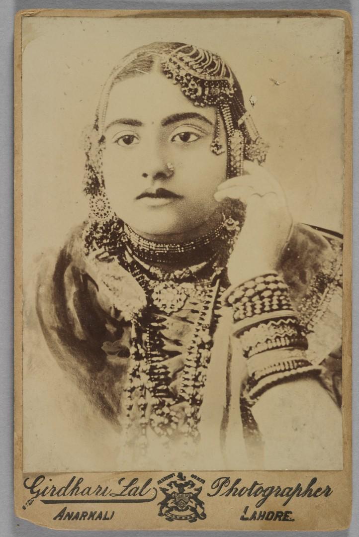 Girdhali Lal, Portrait of a Woman, 1885