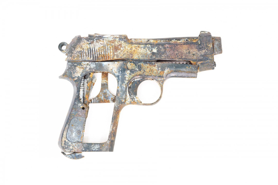 Steven James Brown, Disabled Gun #2, 2003, Cibachrome  20 x 30'