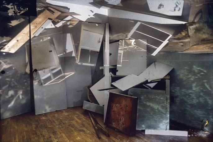 James Nizam, </span><span><em>&lt;I&gt;Pile of Cabinets in A Room&lt;/i&gt;, 2007</em>, </span><span>24 x 36