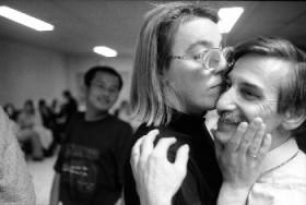 Natalie Schonfeld Howard, </span><span><em>Slow Dance, Jerome and Celine's Wedding, France, 2000</em>, </span><span>16 x 20 Black and White, Archival Fibre Base Print