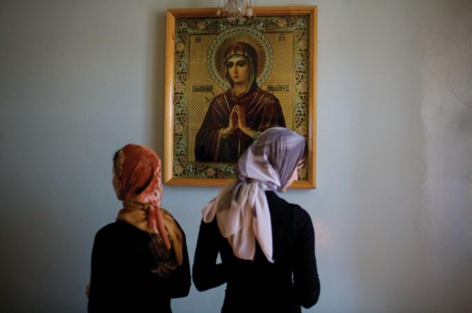 Donald Weber, </span><span><em>Orthodox Church, Mass, Vorkuta, Komi Republic.</em>, </span><span>14 x 22 inch. Digital Image printed on Baryta pape