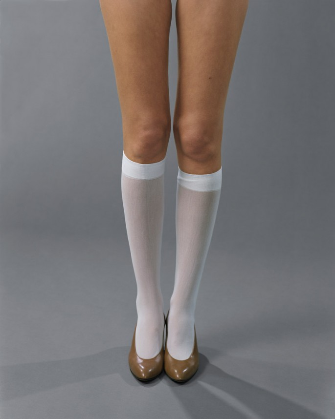 Josephine Meckseper, </span><span><em>Blow Up (Michelli, Knee Highs)</em>, </span><span>2006 Courtesy of the artist, New York, Elizabeth Dee, New York, Galerie Reinhard Hauff, Stuttgart, and VG Bild-Kunst, Bonn