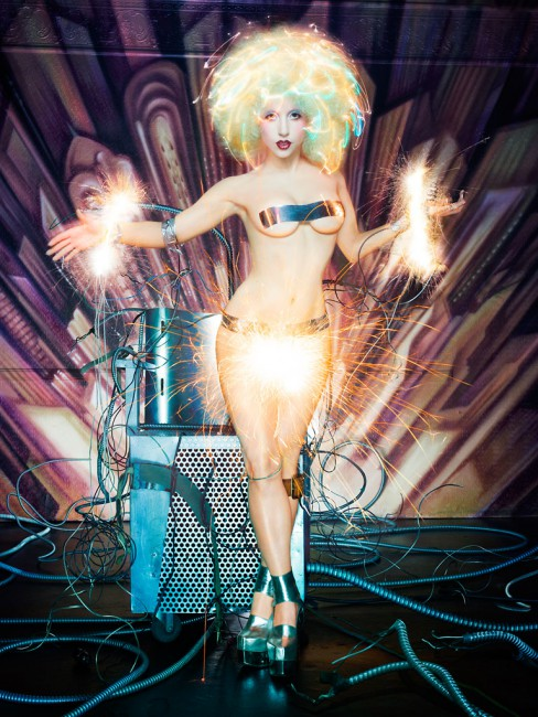 David LaChapelle, </span><span><em>Lady Gaga: Electric Chair</em>, </span><span>2009 Courtesy of the artist and Fred Torres Collaborations