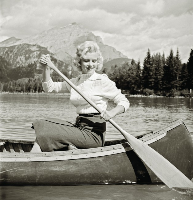 John Vachon (1914–1975), </span><span><em>Untitled (Marilyn in Canoe)</em>, </span><span>1953 Courtesy of the Estate of John Vachon and Dover Publications Inc.