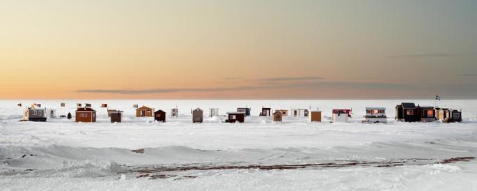 Richard Johnson, </span><span><em>Ice Village # 7, Metabechouan, Lac Saint Jean, Quebec</em>, </span><span>2010