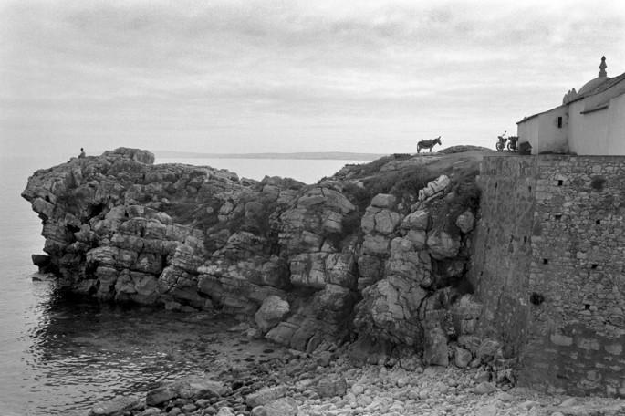 Gilberto Prioste, </span><span><em>Man with Donkey</em>, </span><span>1979