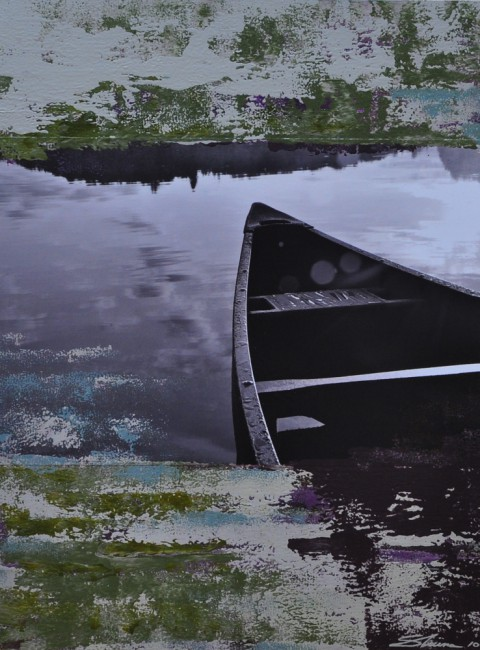 Shuna Heeney, </span><span><em>Dew Covered Canoe</em>, </span><span>2010