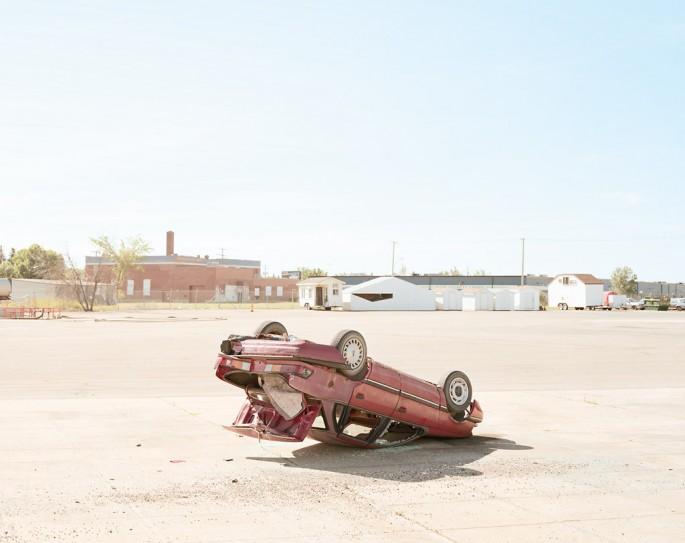 Chris Gergley, </span><span><em>Tipped Car</em>, </span><span>2003 Courtesy of Monte Clark Gallery