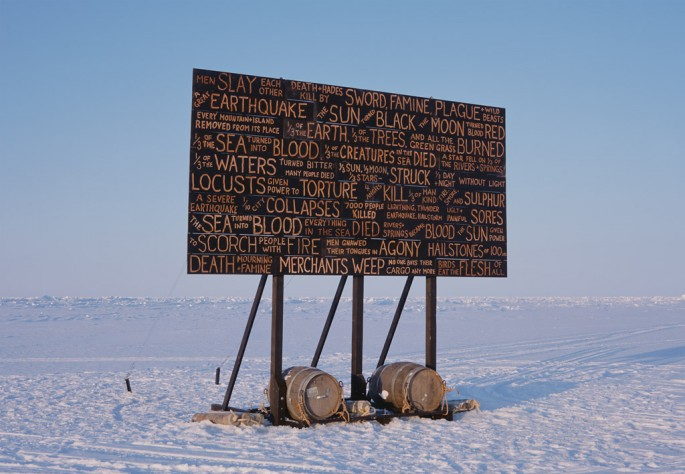 Kevin Schmidt, </span><span><em>A Sign in the Northwest Passage</em>, </span><span>2010 Courtesy the artist and Catriona Jeffries Gallery, Vancouver