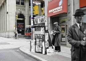 Harry Enchin, </span><span><em>Yonge and King 1 (incorporating part of City of Toronto Archives Fonds 200, Series 372, Sub 58, Item 1455)</em>, </span><span>2011