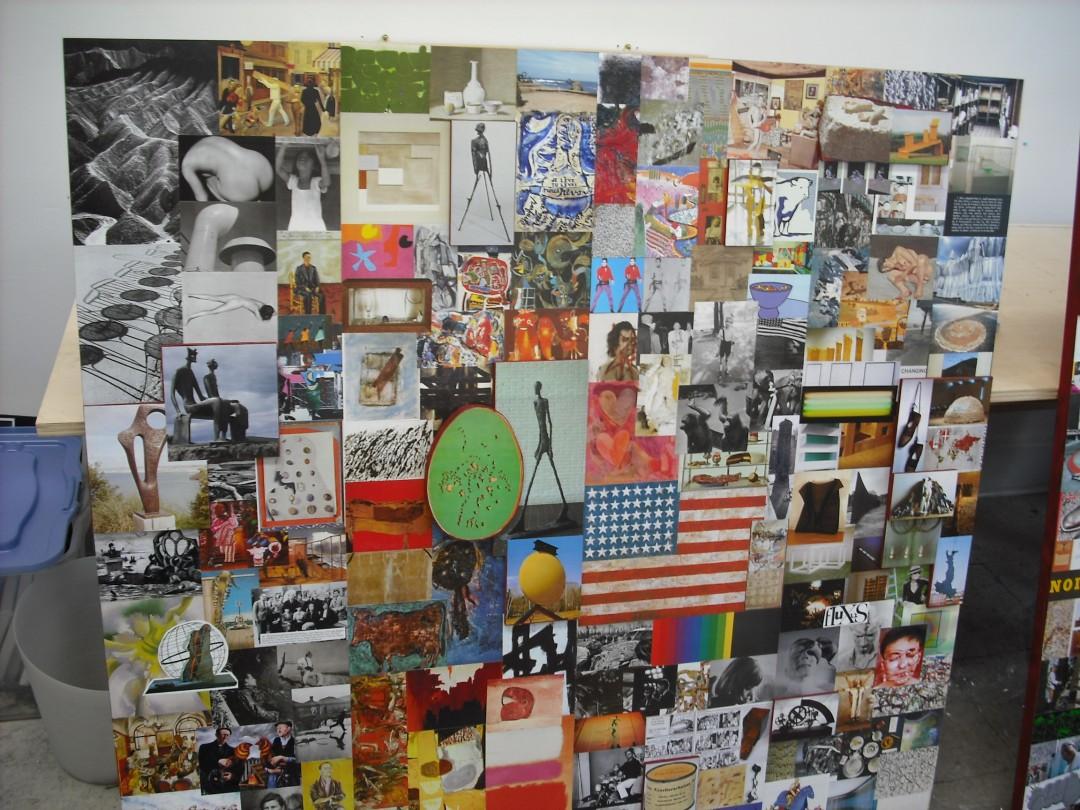 Bonnie Penfold, </span><span><em>Tate Timeline, mid century panel (detail)</em>, </span><span>2009