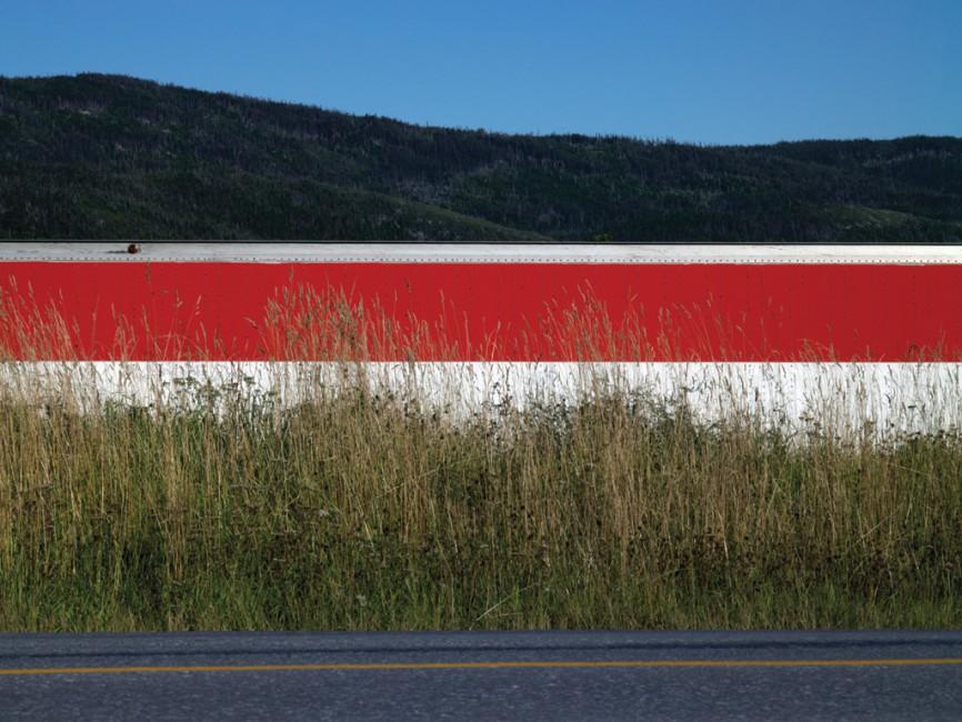 Ned Pratt, </span><span><em>Trailer with a Red Stripe</em>, </span><span>2011