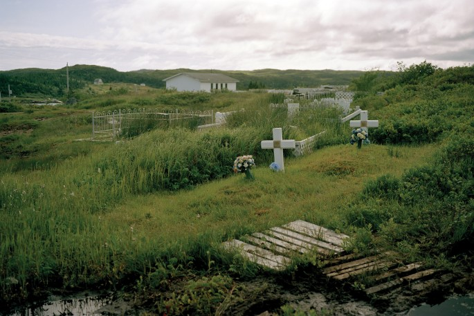 Johan Hallberg-Campbell, </span><span><em>Graveyard sits over La Poile, Newfoundland</em>, </span><span>2011