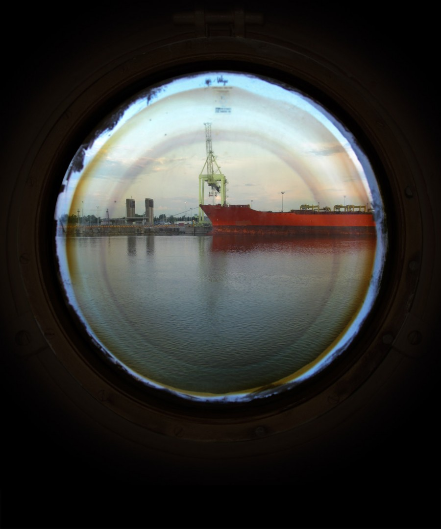 April Hickox, Porthole 1, 2011 Courtesy of Katzman Kamen Gallery.