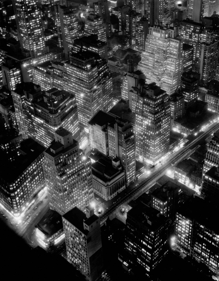 Berenice Abbott, Nightview, New York City, 1935 © Berenice Abbott/Commerce Graphics