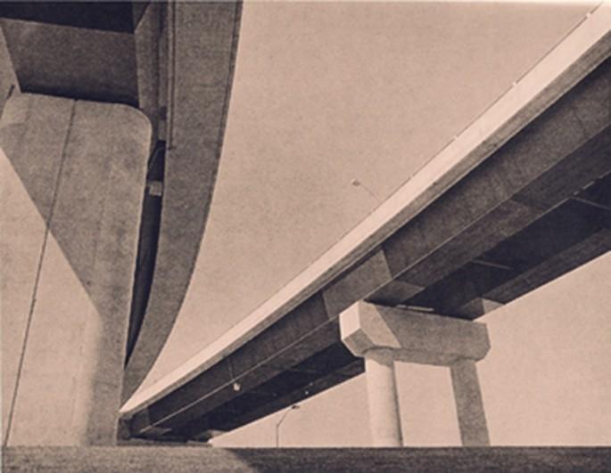 Edward Eastman, </span><span><em>Under_Overpass</em>, </span><span>Silver Gelatin, Lilth print.