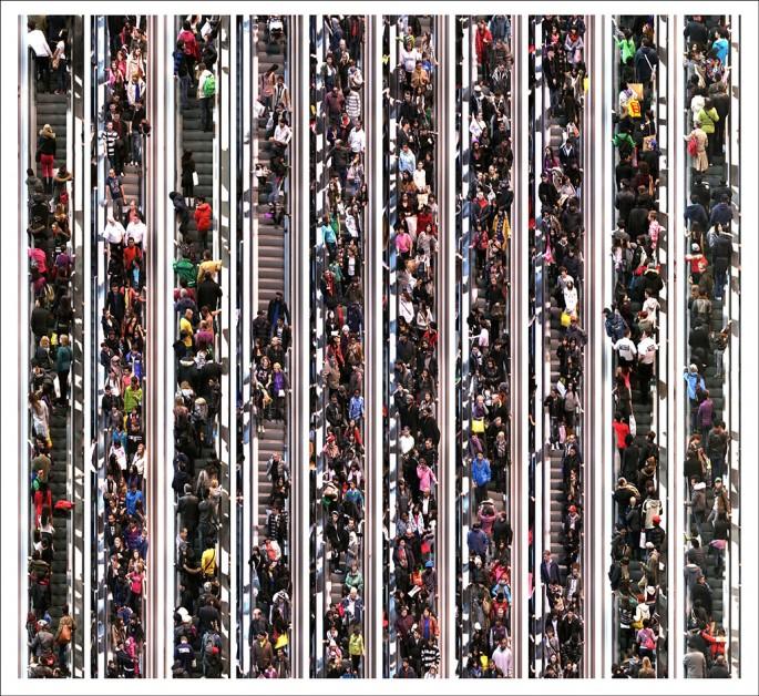 Michael Awad, </span><span><em>Escalator</em>, </span><span>2012