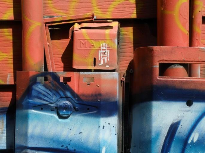 Nir Bareket, </span><span><em>Kensington graffiti, mailbox</em>, </span><span>2012