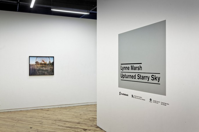 Installation view of Lynne Marsh, Upturned Starry Sky, CONTACT Gallery, 2012, ,  © Toni Hafkenscheid