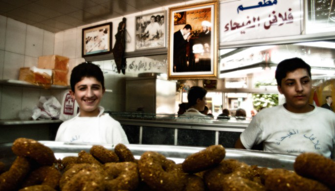 So Young Lee, </span><span><em>Falafels of Peace in Aleppo, Syria</em>, </span><span>2012