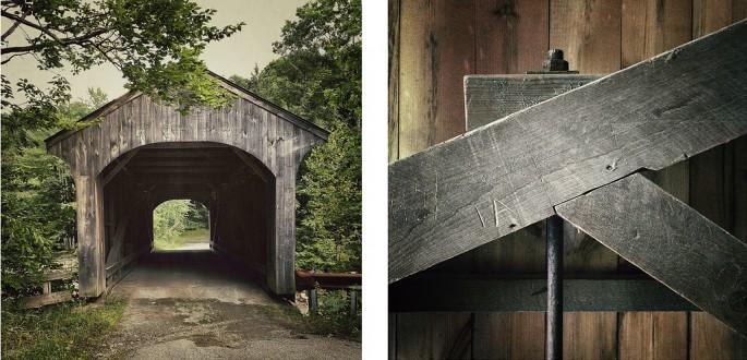 Richard Johnson, </span><span><em>Covered Bridge #14,  Montgomery, 1870, Waterville, Lamoille County, Vermont</em>, </span><span>2012