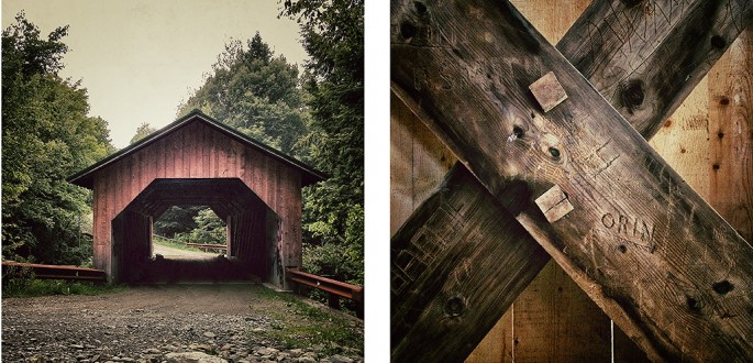 Richard Johnson, </span><span><em>Covered Bridge #10,  Creamery, 1883, Montgomery, Franklin County, Vermont</em>, </span><span>2012