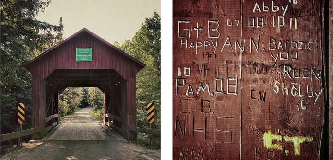 Richard Johnson, </span><span><em>Covered Bridge #18,  Moseley, 1899, Northfield, Washington County, Vermont</em>, </span><span>2012