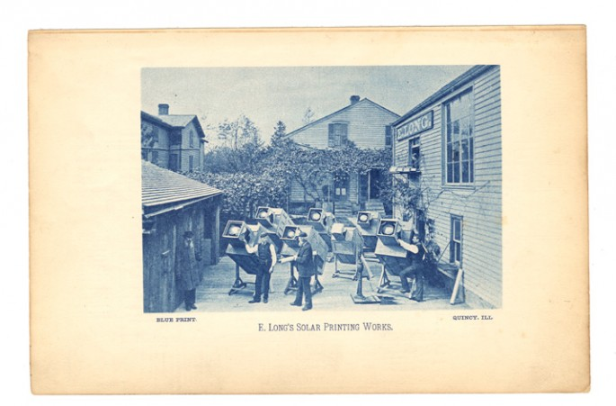 Unknown photographer (American), </span><span><em>E. Long's Solar printing works, Quincy IL</em>, </span><span>1886 Courtesy of Archive of Modern Conflict, London