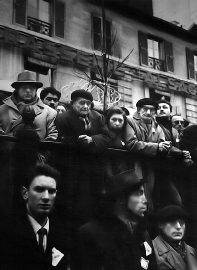 Chris Marker, </span><span><em>Mourning the Dead, Anti-OAS demo, Paris</em>, </span><span>1962 Courtesy of Peter Blum Gallery, New York