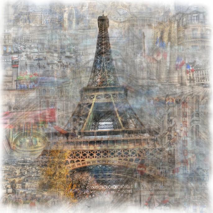 Christopher Cabral, </span><span><em>ParisScape 1</em>, </span><span>2008