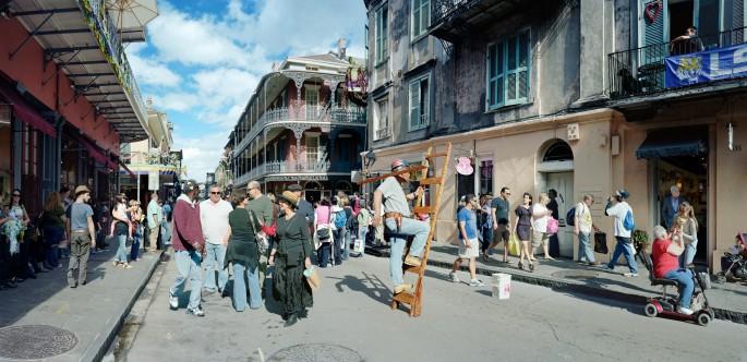 Scott McFarland, </span><span><em>Man on Ladder, Royal Street, New Orleans</em>, </span><span>2012 Courtesy of the artist