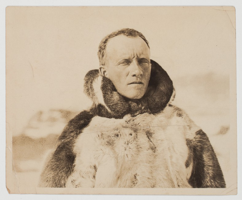Unknown Photographer, </span><span><em>Dr. Livingstone in Winter Clothing</em>, </span><span>detail from personal photograph album Archive of Dr. Leslie David Livingstone's Travels to the Arctic. Private Collection.