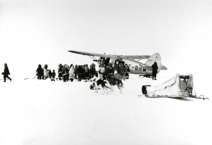 Richard Harrington, </span><span><em>A &quot;Norseman&quot; plane arrives in dim arctic light, Coppermine, NWT</em>, </span><span>1949 © Estate of Richard Harrington / Courtesy of Stephen Bulger Gallery