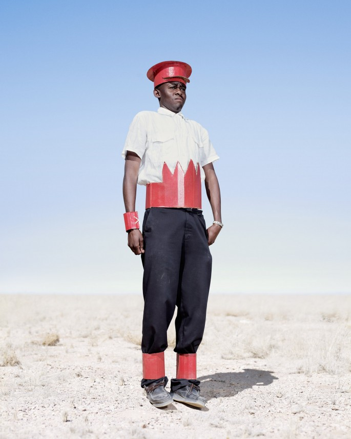 Jim Naughten, </span><span><em>Herero Cadet in Cardboard Hat</em>, </span><span>2012