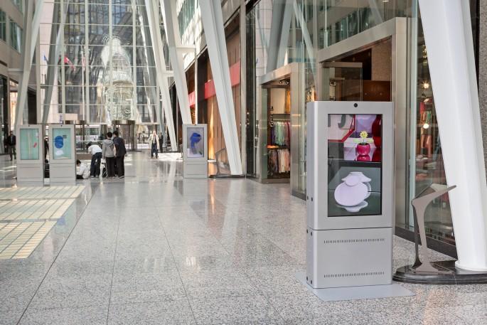 Installation view of Owen Kydd &lt;em&gt;Retail Compositions&lt;/em&gt;, </span><span> Photo: Toni Hafkenscheid