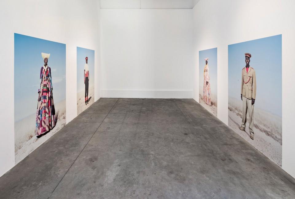 Installation view of Jim Naughten &lt;em&gt; Hereros&lt;/em&gt;, </span><span> Photo: Toni Hafkenscheid