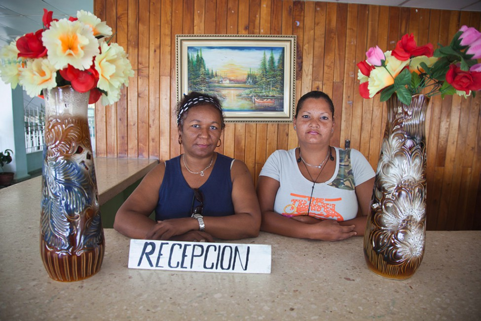 Benjamin Rondel, </span><span><em>Hospital receptionists, Pilon, Cuba</em>, </span><span>2009