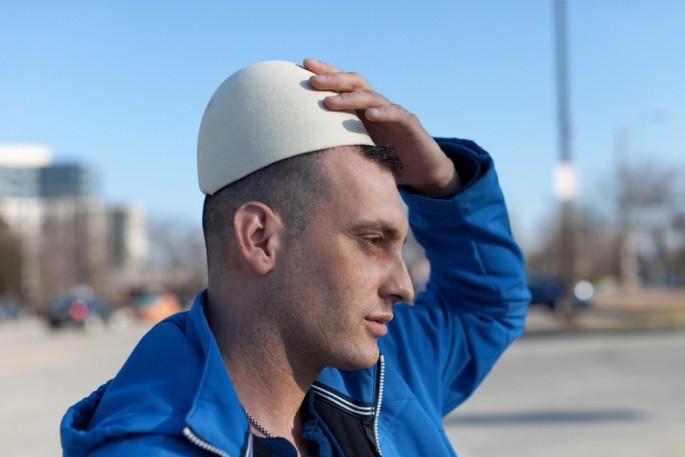 Colin Boyd Shafer, </span><span><em>Astrit (Born in Kosovo) wearing a traditional hat called a Plisi</em>, </span><span>2014